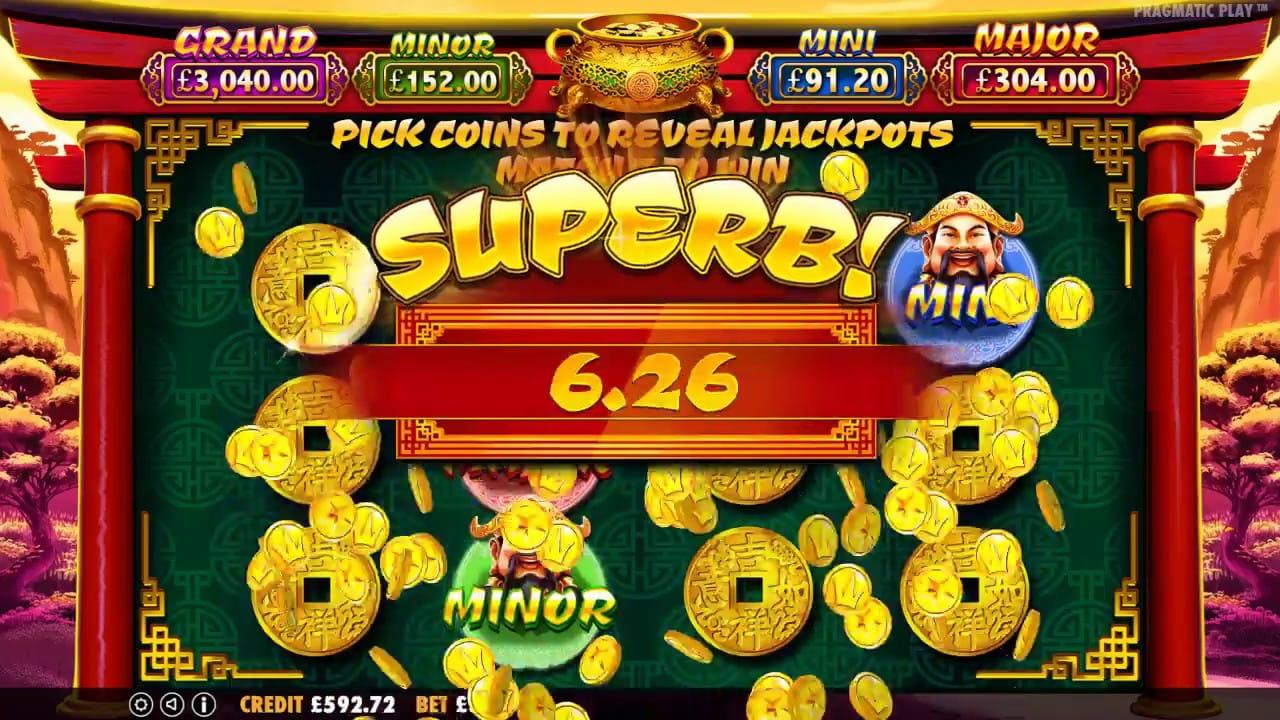 Caishen's Cash Slot Big Win
