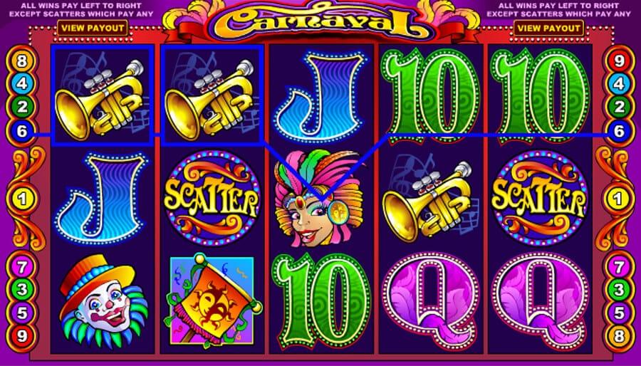 carnaval slot gameplay