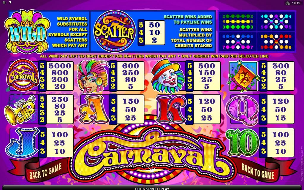 carnaval symbols online slot