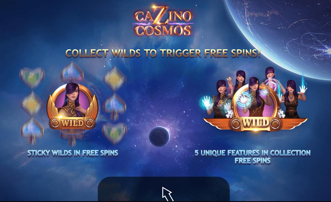 Cazino Cosmos Slot Bonus Symbols