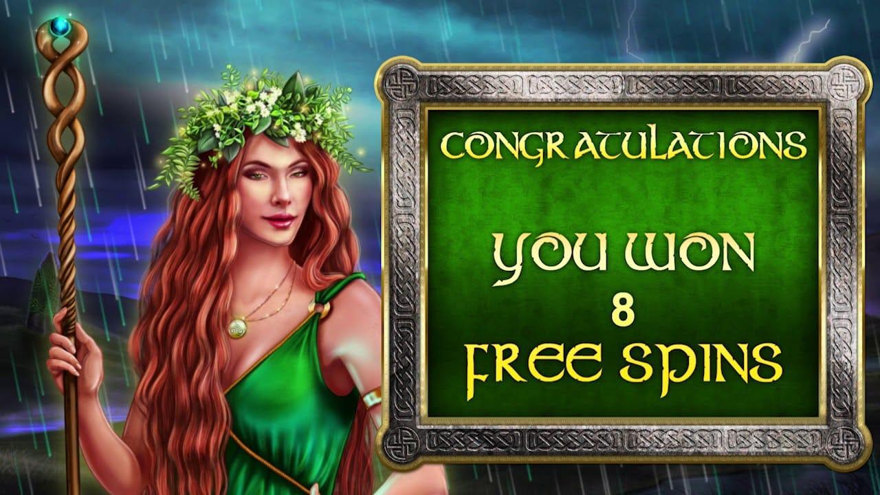 celtic goddess free spins mega reel