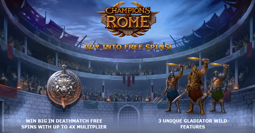 Champions of Rome Slots Features