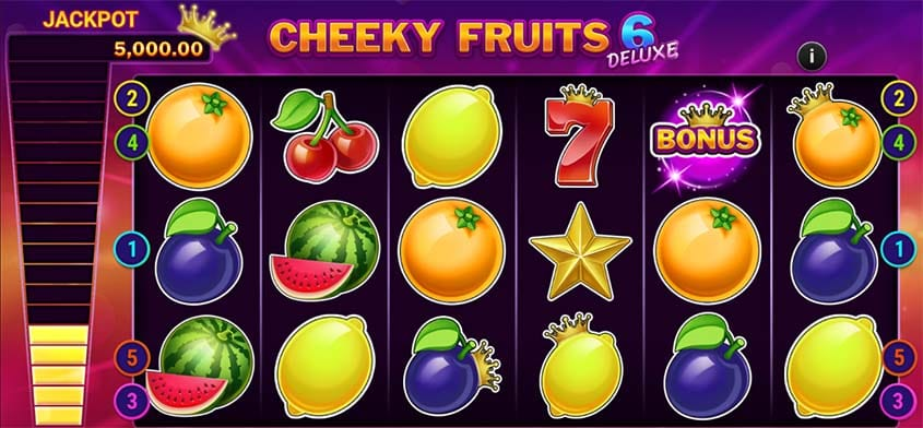 Cheeky Fruits 6 Deluxe Slots Game