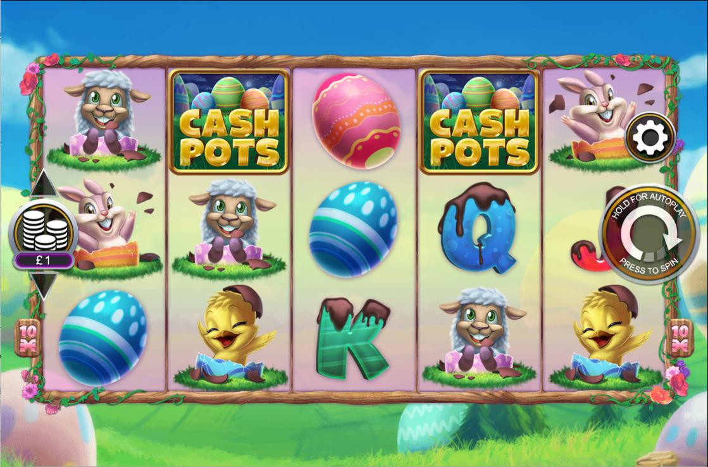 Chocolate Cash Pots Slots Reels