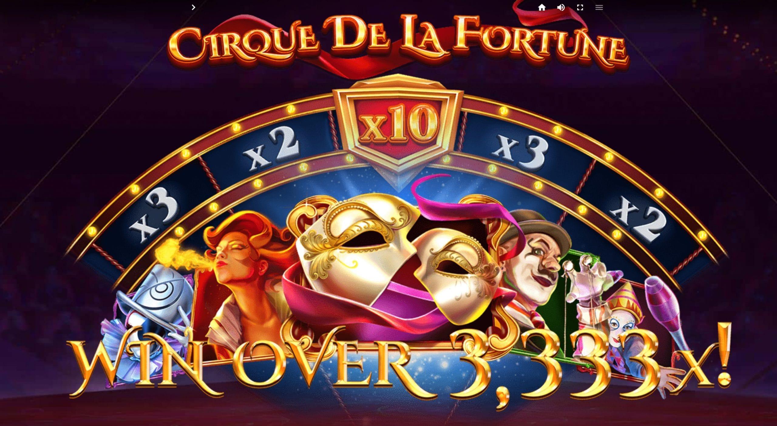 Cirque de la Fortunes Slots Mega Reel