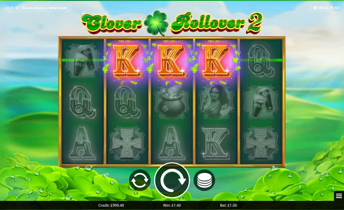 Clover Rollover 2 Slots Gameplay