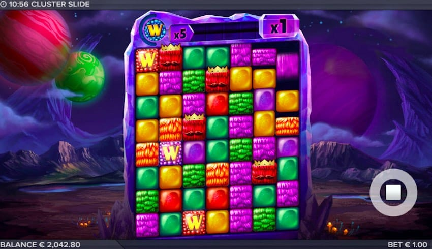 Cluster Slide Slot Gameplay