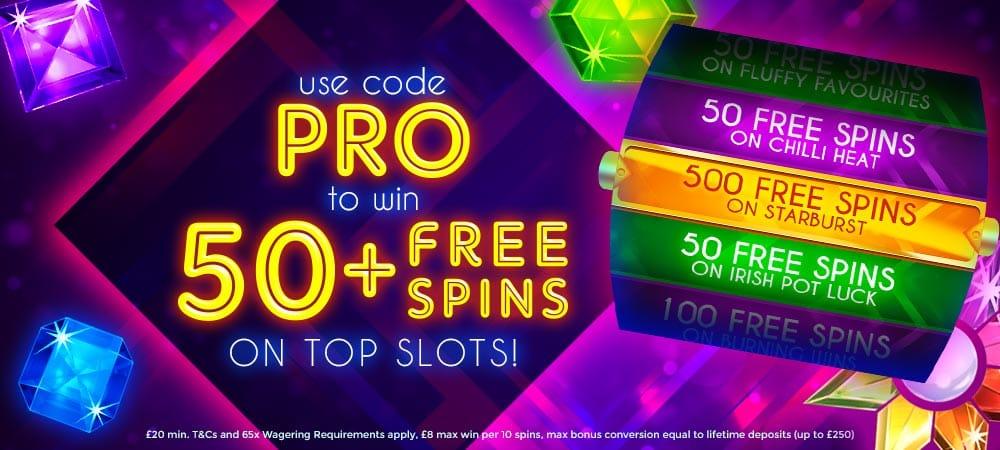 50-free-spins MegaReel