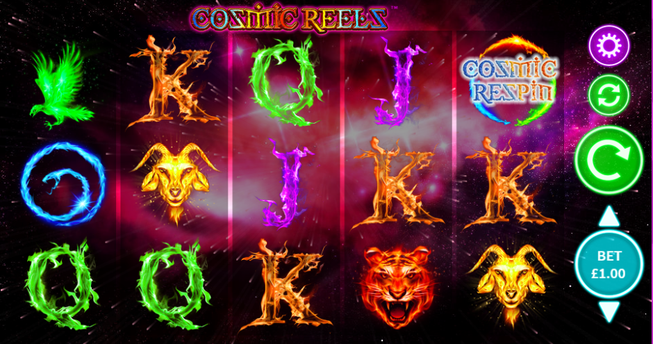 Cosmic Reels Gameplay