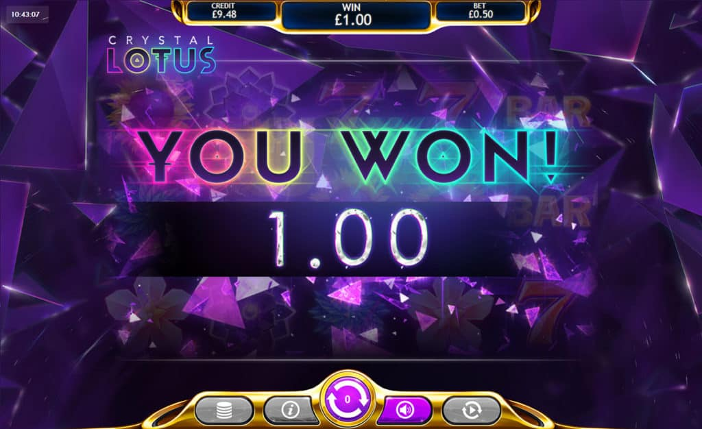 Crystal Lotus Slot Win