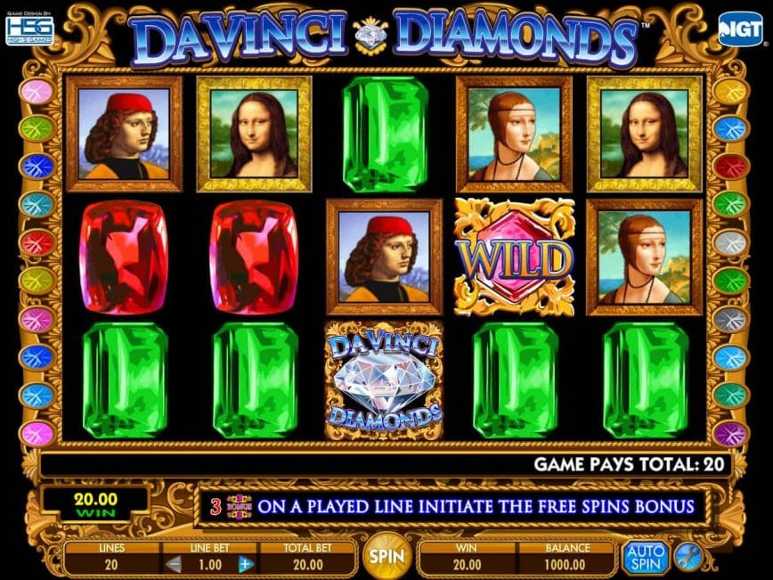 Da Vinci Diamonds Slot Win