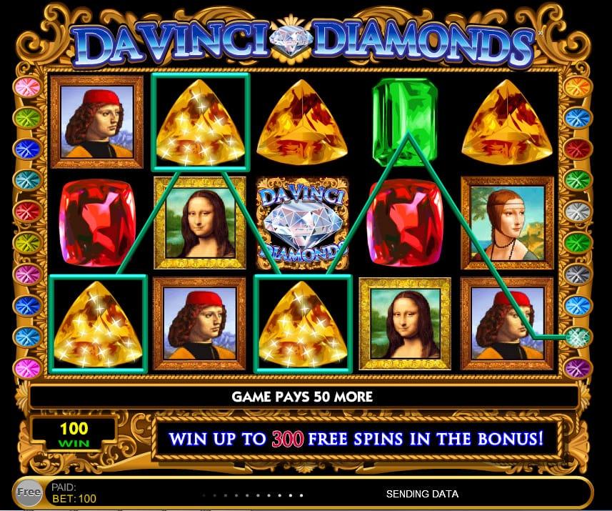 Da Vinci Diamonds Slot Gameplay