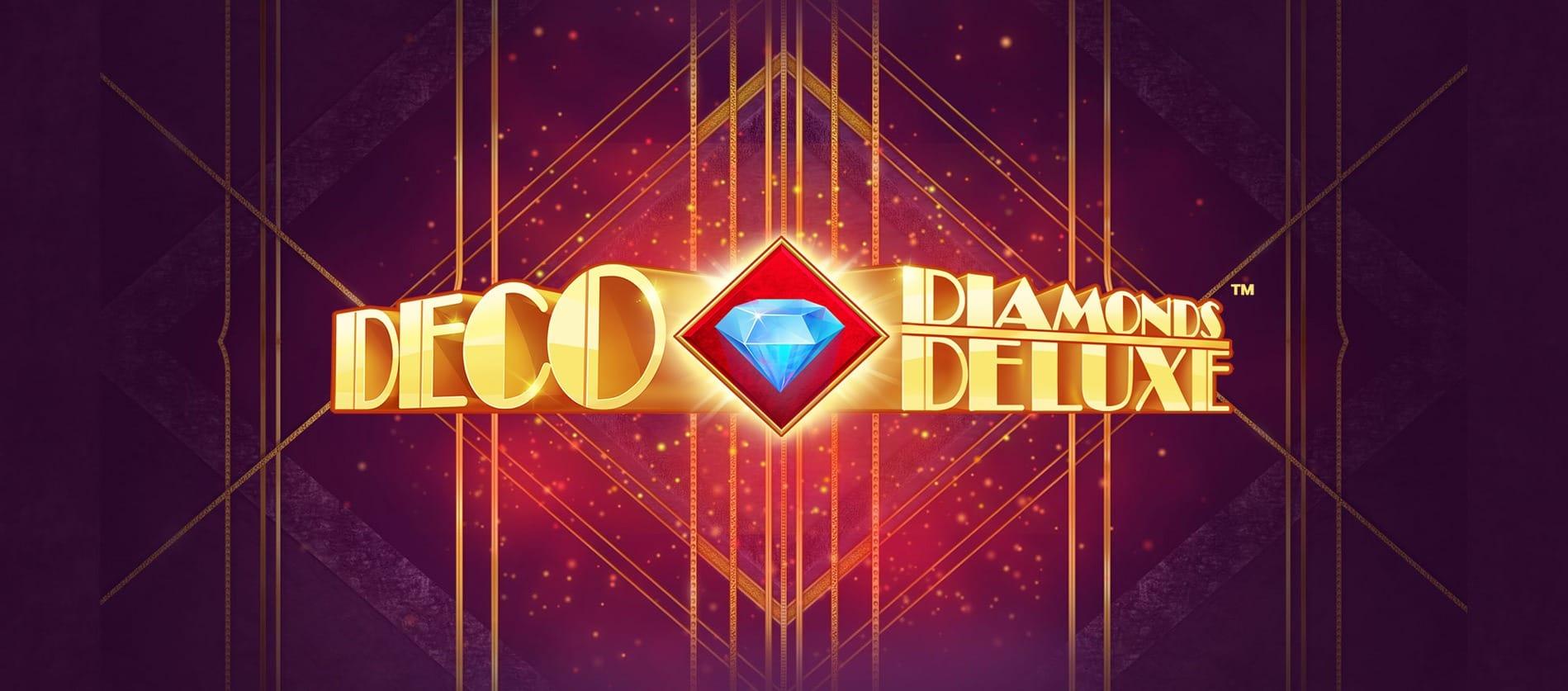 Deco Diamonds Deluxe Slot Banner