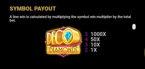 Deco Diamonds Symbols