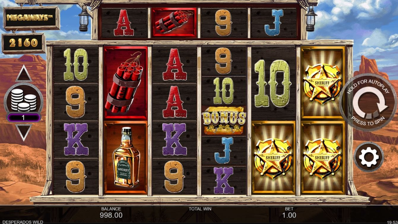 Desperados Wild MegaWays Slots Game