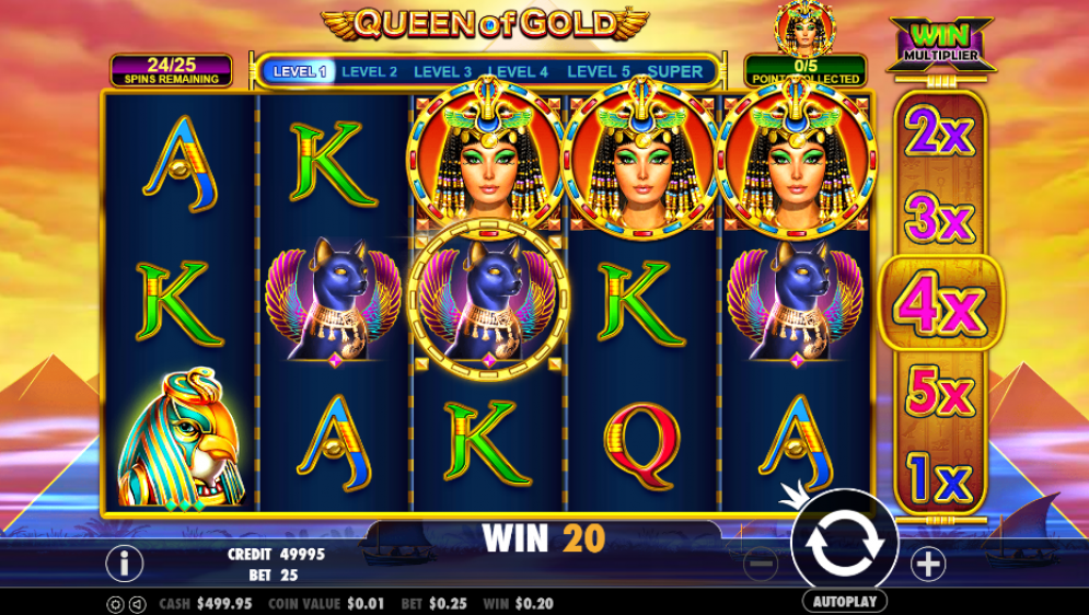 queen of gold game casino slot