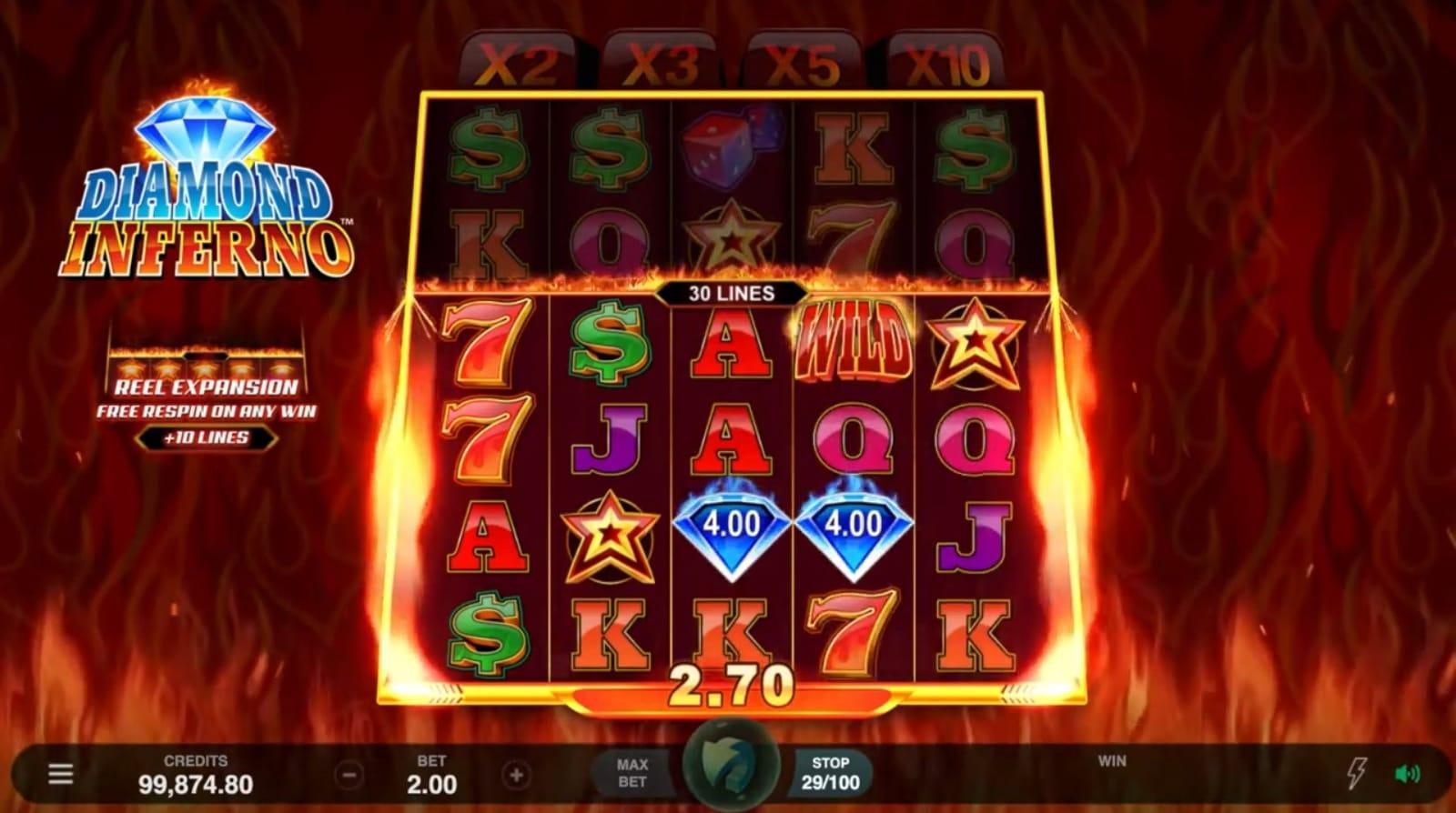 Diamond Inferno Slots Game