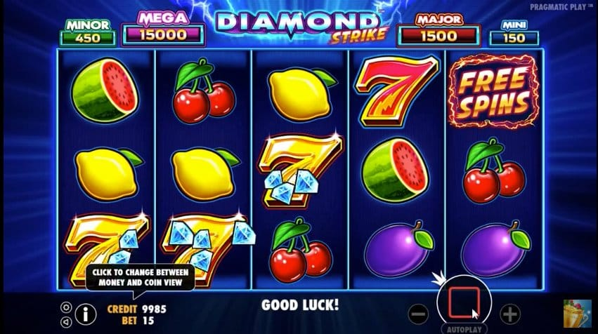 diamond strike online slot gameplay