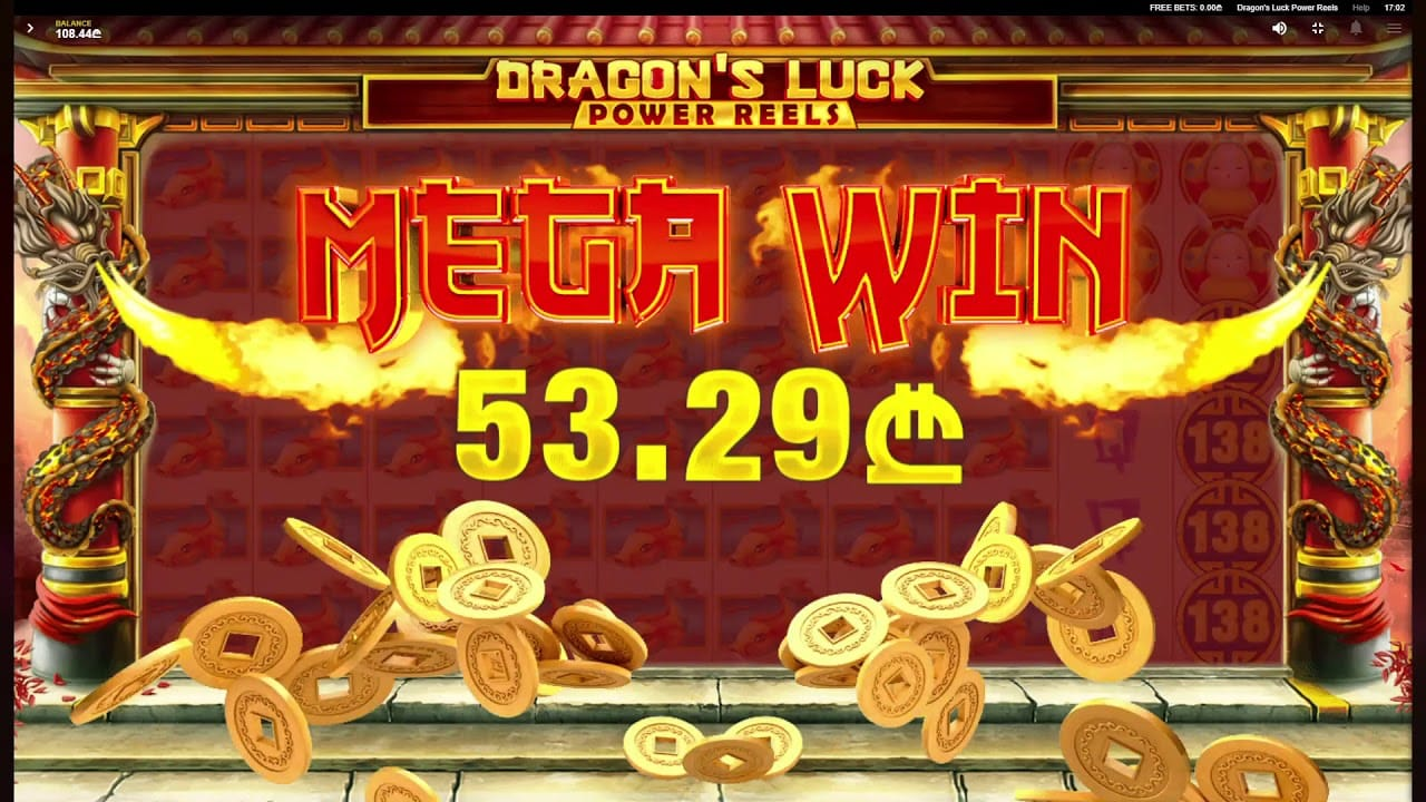 dragons luck power reels mega win