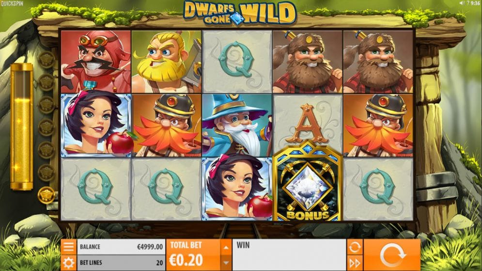 dwarfs gone wild slot gameplay
