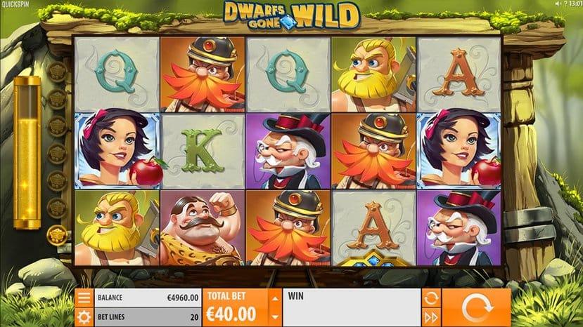 dwarfs gone wild slot reels
