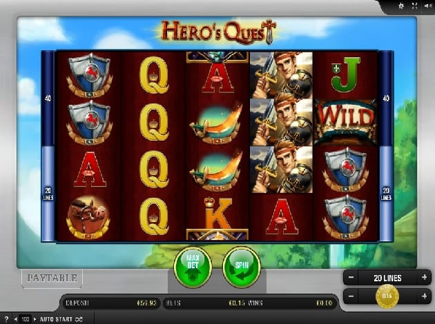 Hero's Quest UK Casino Game