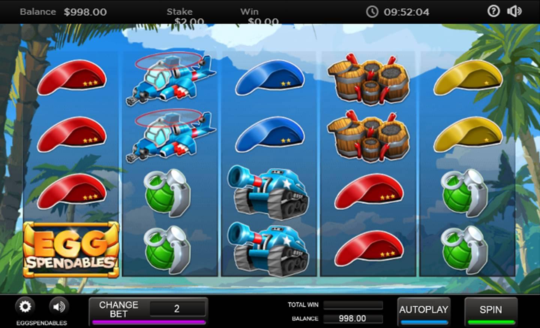 Eggspendables Slot game
