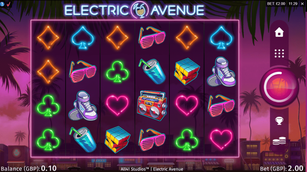 Electric Avenue Slots Game