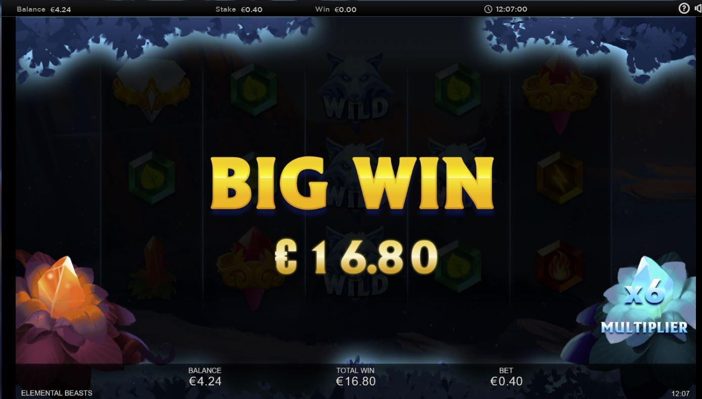 Elemental Beasts Slot Big Win