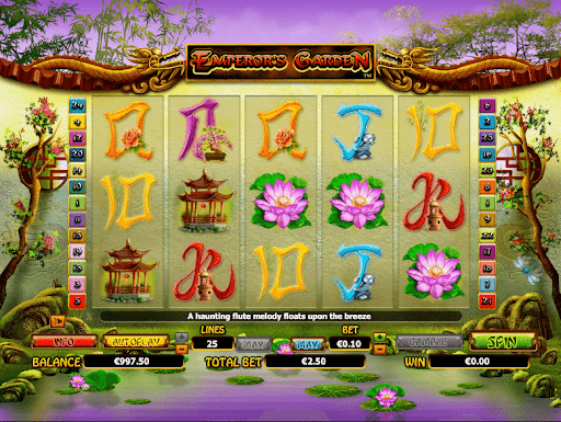 emperor's garden online slot reels