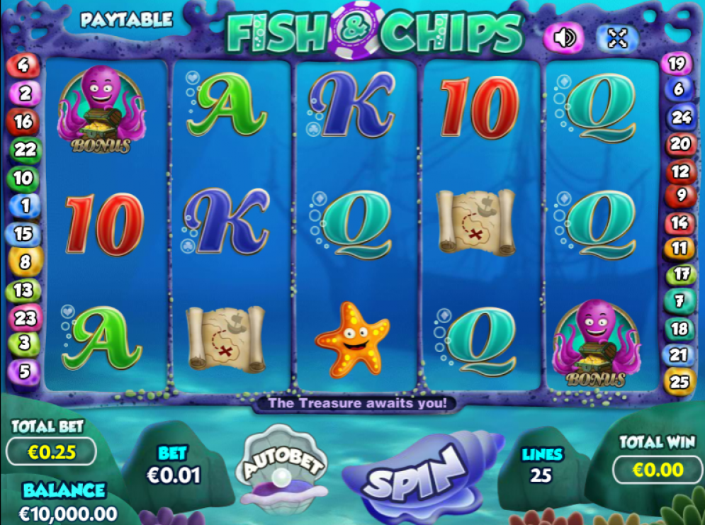 Fish and Chips Slot Gameplay