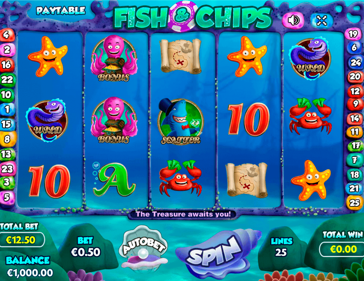 Fish and Chips Slot Mega Reel