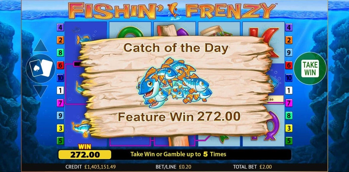 Fishin' Frenzy Slot Bonus