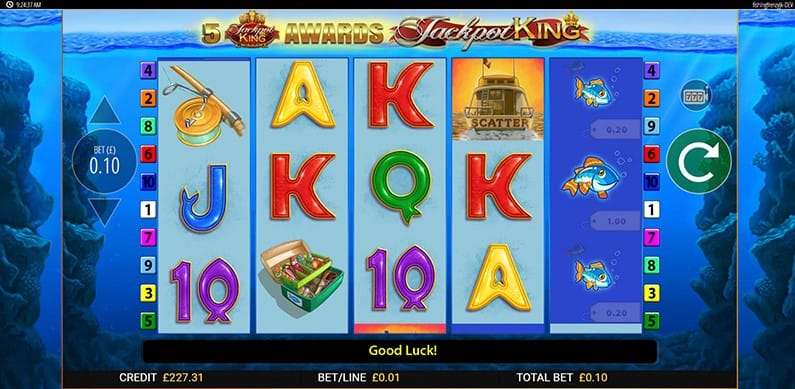 Fishin Frenzy Jackpot King Slot Game