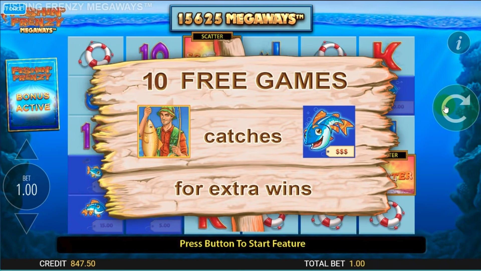 Fishin' Frenzy MegaWays Bonus Games