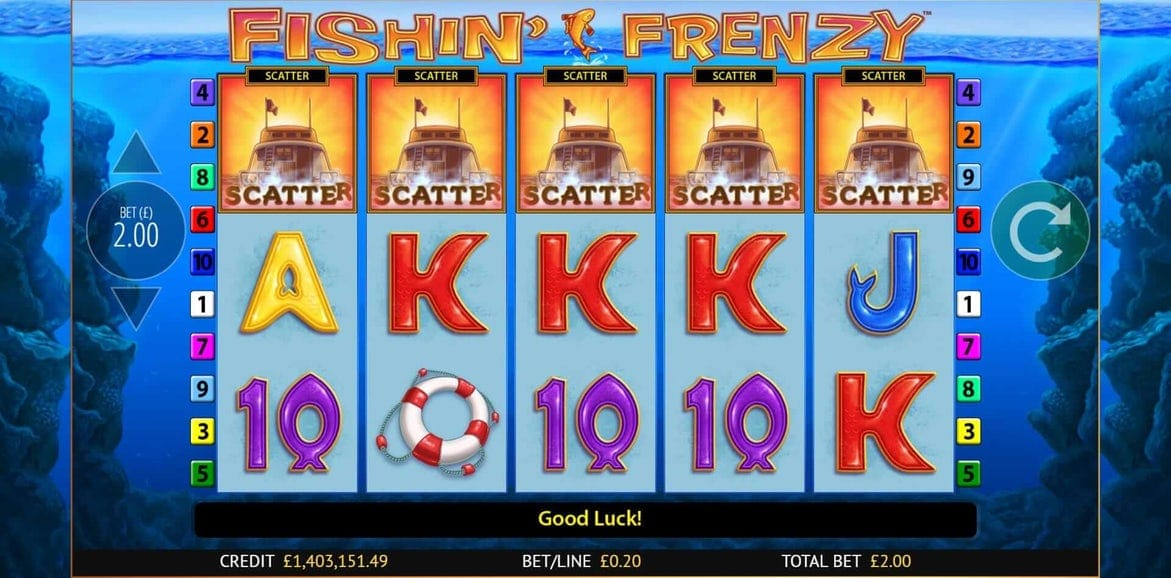Fishin' Frenzy Slots UK