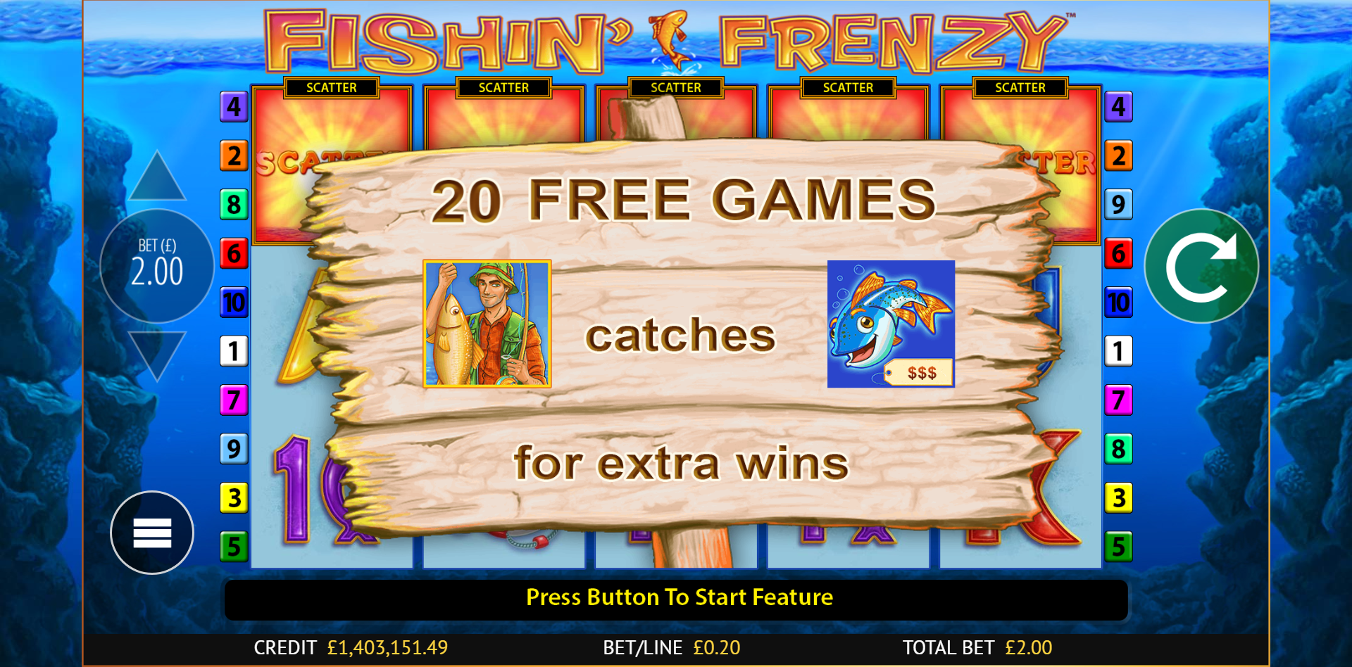 Fishin' Frenzy Slot Free Bonus