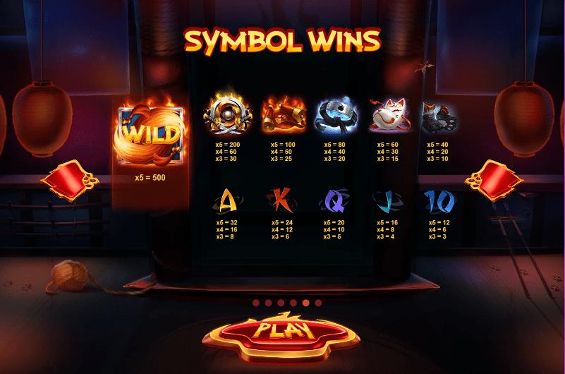 Flaming Fox Symbols