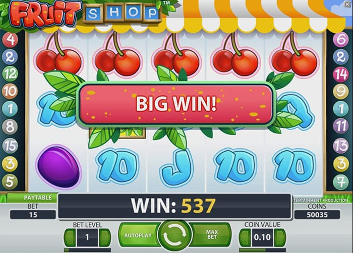 Fruit Shop Big Win