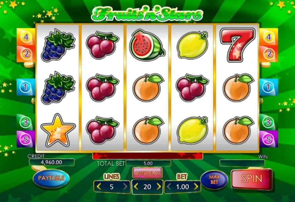 Fruits'N'Stars Slot Mega Reel Gameplay