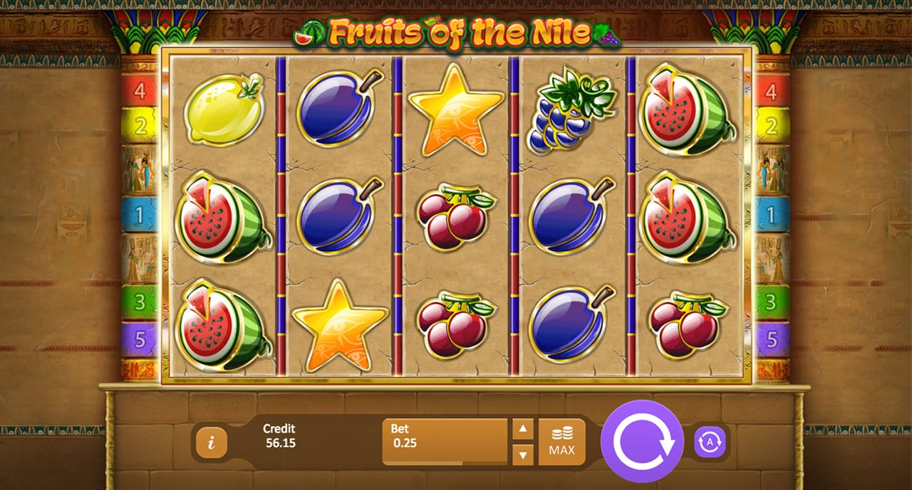 Fruits of the Nile Slot Mega Reel Gameplay