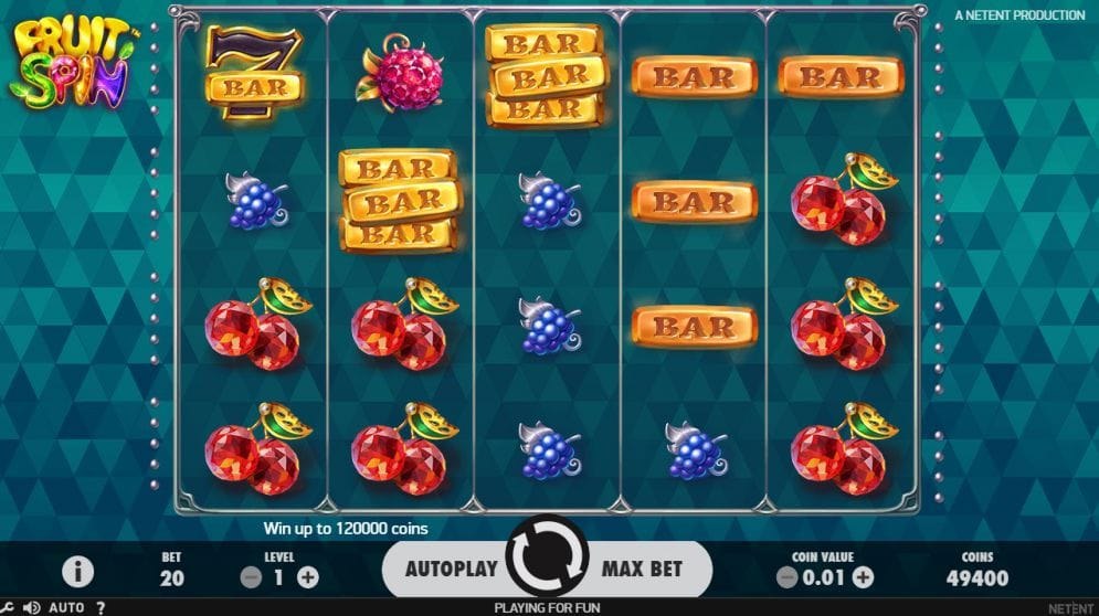 Fruit Spin Slot Mega Reel Gameplay