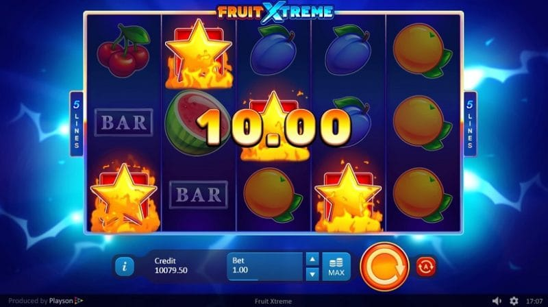Fruit Xtreme: 5 Lines Game Win