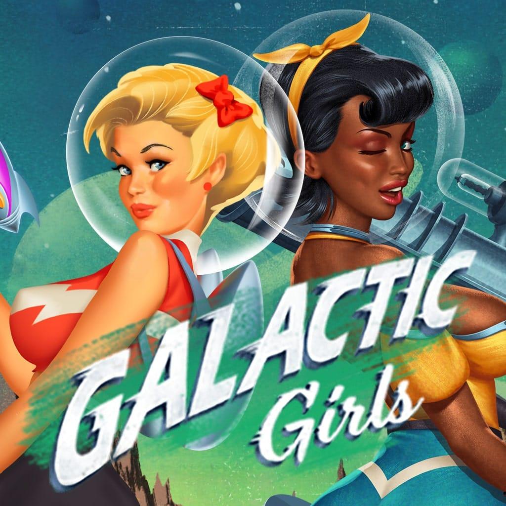 Galactic Girls Slot Logo Mega Reel