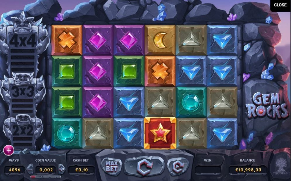 Gem Rocks Slot Gameplay