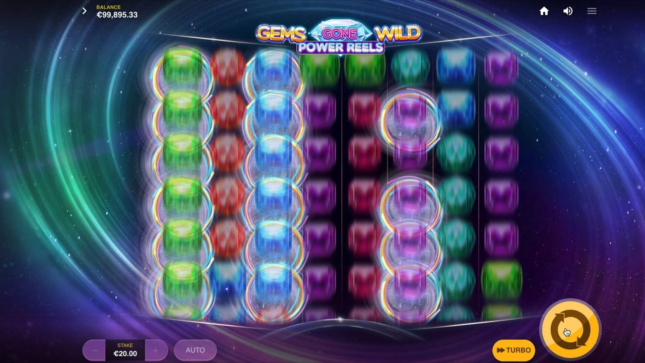 Gems Gone Wild Power Reels Slot Game