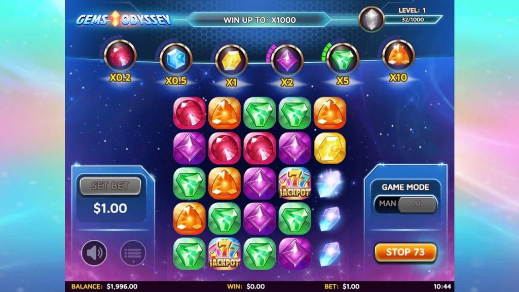 Gems Odyssey Slot Gameplay