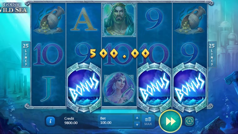 God of Wild Sea Slot Gameplay