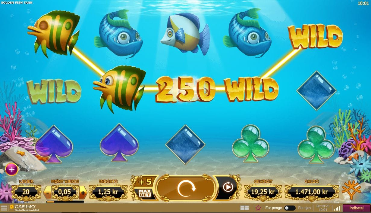 Golden Fishtank Slots Casino Game
