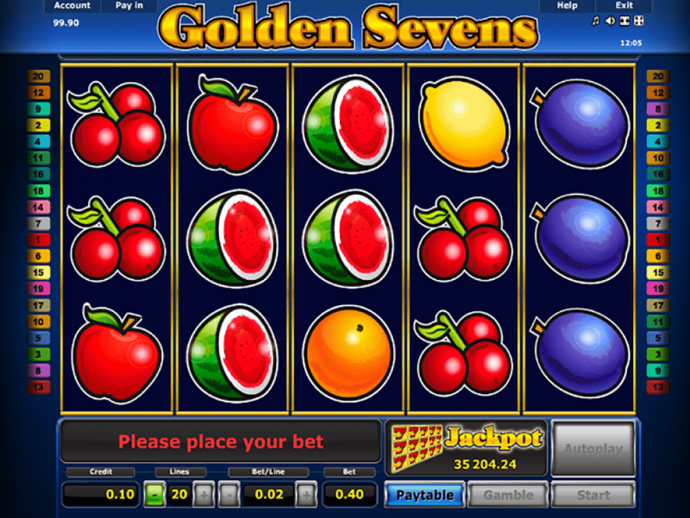 Golden 7's Slot Game